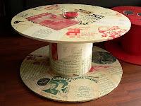 les dedees vintage recup creations table basse quand la bobine fait salon by ben. Black Bedroom Furniture Sets. Home Design Ideas