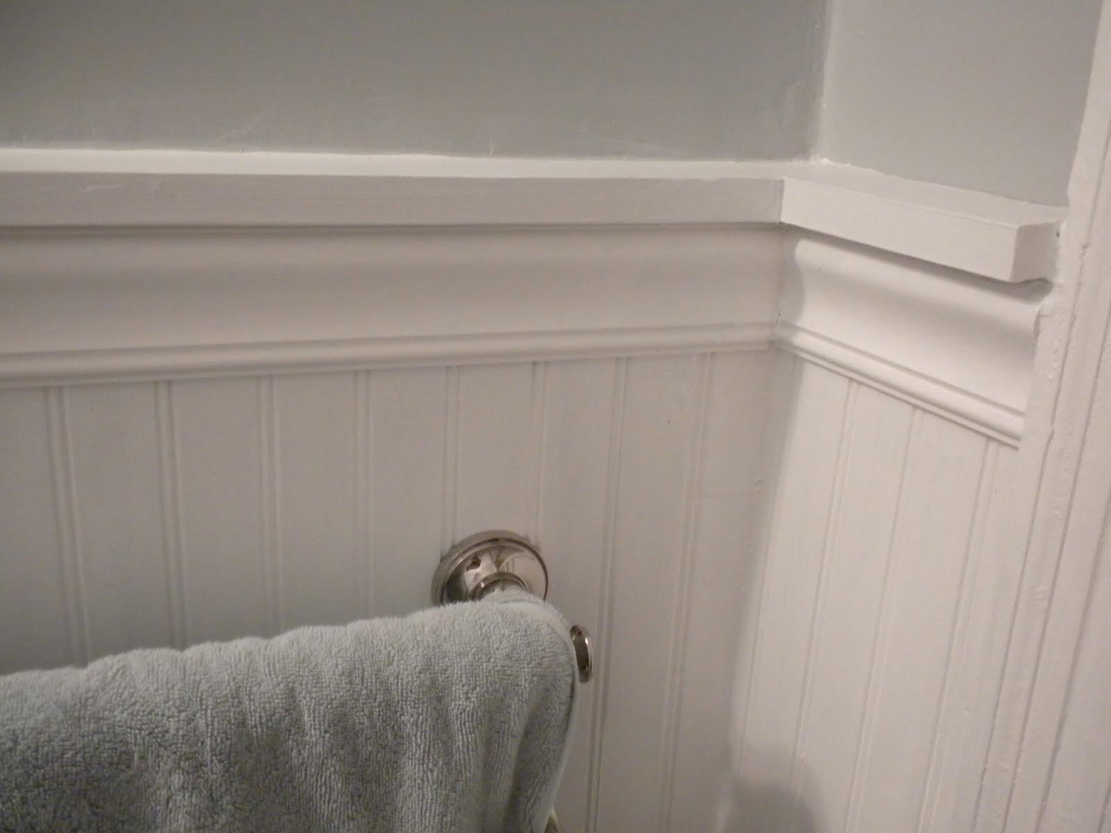 Beadboard Chair Rail Wedding Covers Lilac Gathering Moss Operation Bathroom Reveal