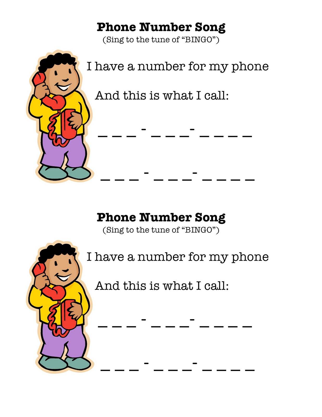 Imagination Express Preschool Phone Number Song