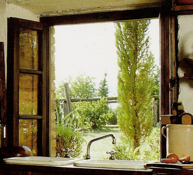 Kitchen window, Tuscany Interiors, as seen on linenandlavender.net