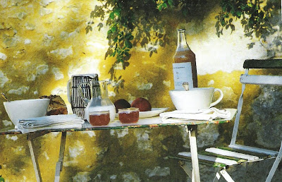 Côté Ouest Aout-Sept 2003 garden bistro table edited by lb for  linenandlavender.net, here:  http://www.linenandlavender.net/2009/08/and-livin-is-easy.html