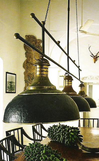 Black pendant fixture, Côté Sud Oct-Nov 2005 as seen on linenandlavender.net