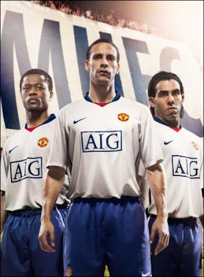 buy popular 96ce9 0ea11 New Kits on The Blog: Manchester United Away Kit 2008/2009