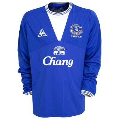 New Kits on The Blog: Everton Home Shirt 2009/10