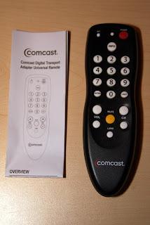 comcast dta digital transport adapter cable box unboxing welcome rh blog trebacz com Comcast DTA Box Comcast Xfinity Remote Control Manual