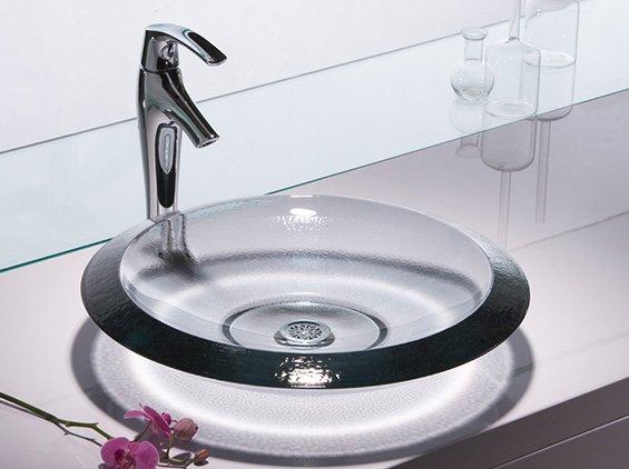 House Designs, Luxury Homes, Interior Design: Modern Sink Glass Bathroom Design From Kohler