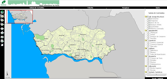 mapa porto interactivo Coordenadas: Mapa Interactivo da cidade do Porto mapa porto interactivo