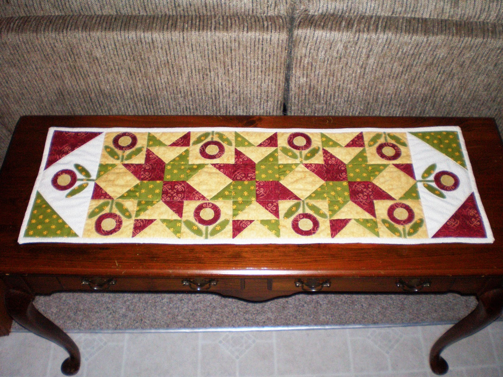 Sofa Table Runners Jack Knife Frame My Useless Crafts And Such Runner