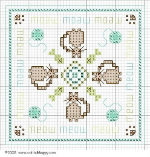 Cross Stitch Happy: Roberta's Cats Biscornu