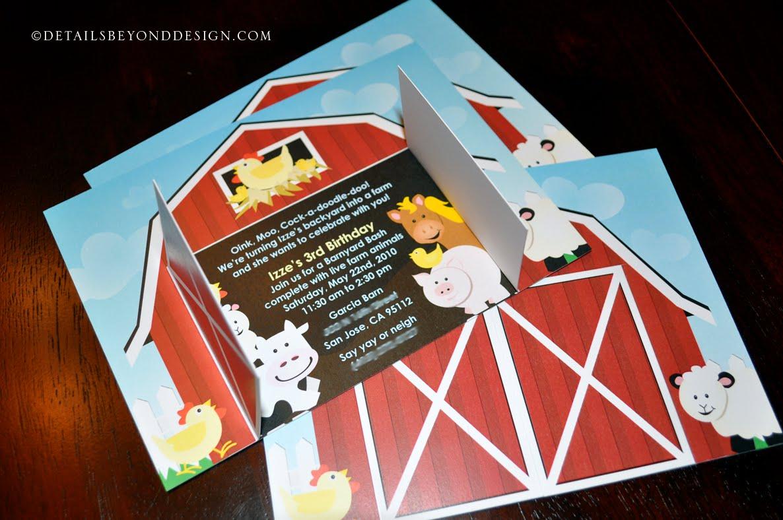 Details Beyond Design by Lauren: Red Barn Birthday Invitations