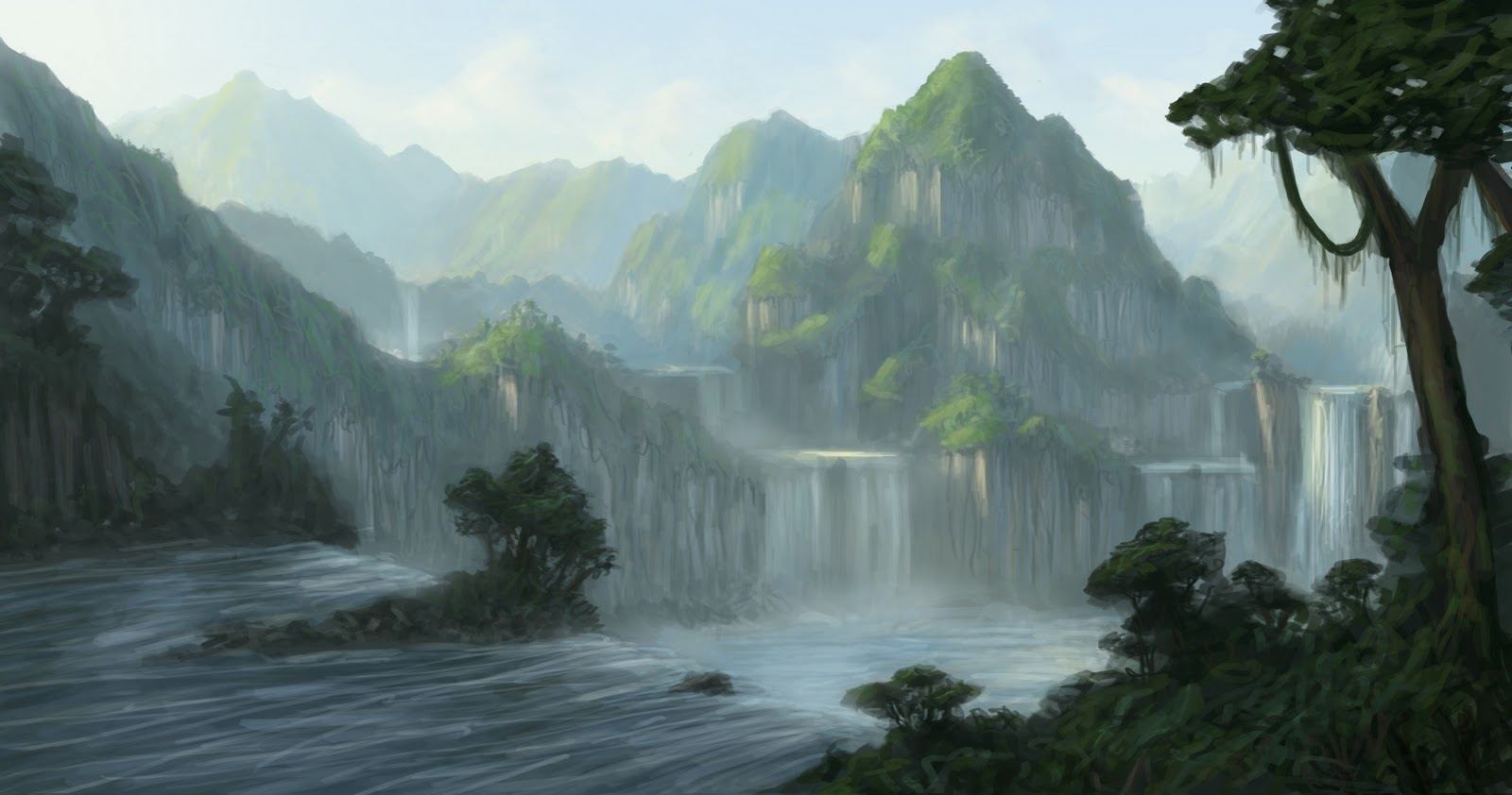 Learning concept art and matte painting 3d matte painting for Matte painting