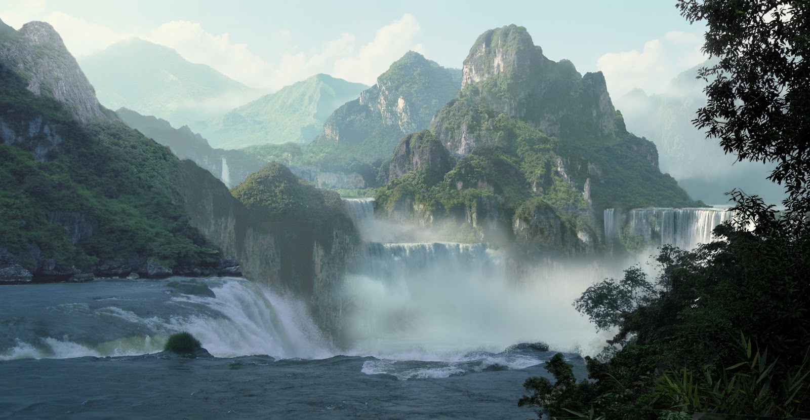 Fall Waterfall Wallpaper Hf Learning Concept Art And Matte Painting