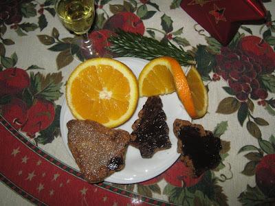 narancsos/csokoládés karácsonyi keksz