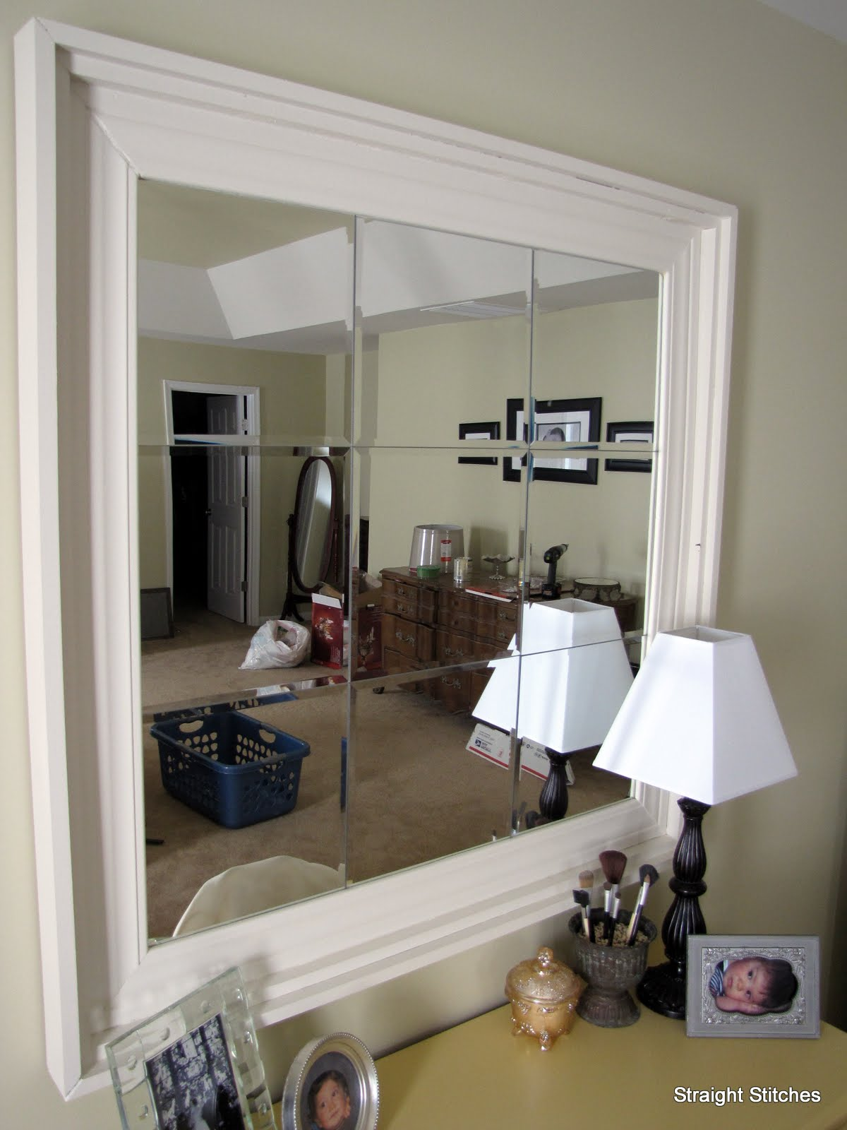 Remodelaholic whos the fairest one of all mirror tutorial the wall space above the vanity needed something spectacular its a big space and that poor vanity was being a little overwhelmed geotapseo Choice Image
