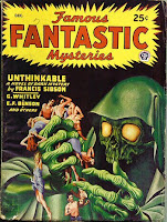 Cover image by Finlay of Famous Fantastic Mysteries magazine, December 1946 issue