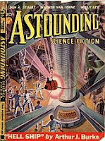 Cover image of Astounding Science-Fiction magazine, August 1938 issue, by Wesso