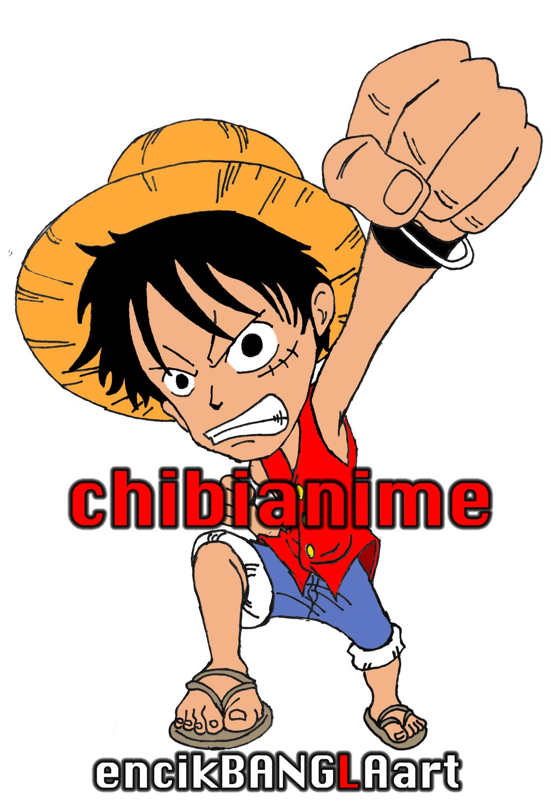 Chibi Anime Wallpaper File 001 One Piece Monkey D Luffy