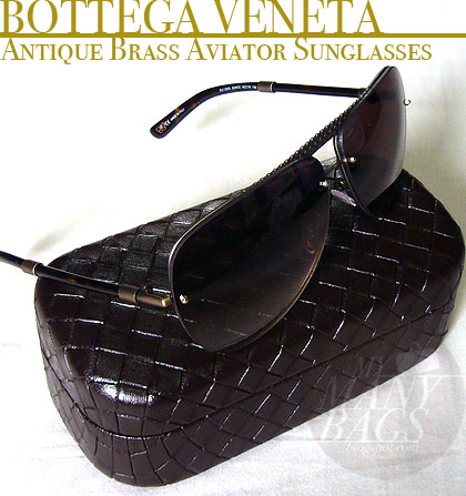 8160d9da7ec2 Below  Lots of small details which makes the sunglasses unique and totally  Bottega Veneta ...such as this  woven leather texture  brass strip on the  front.