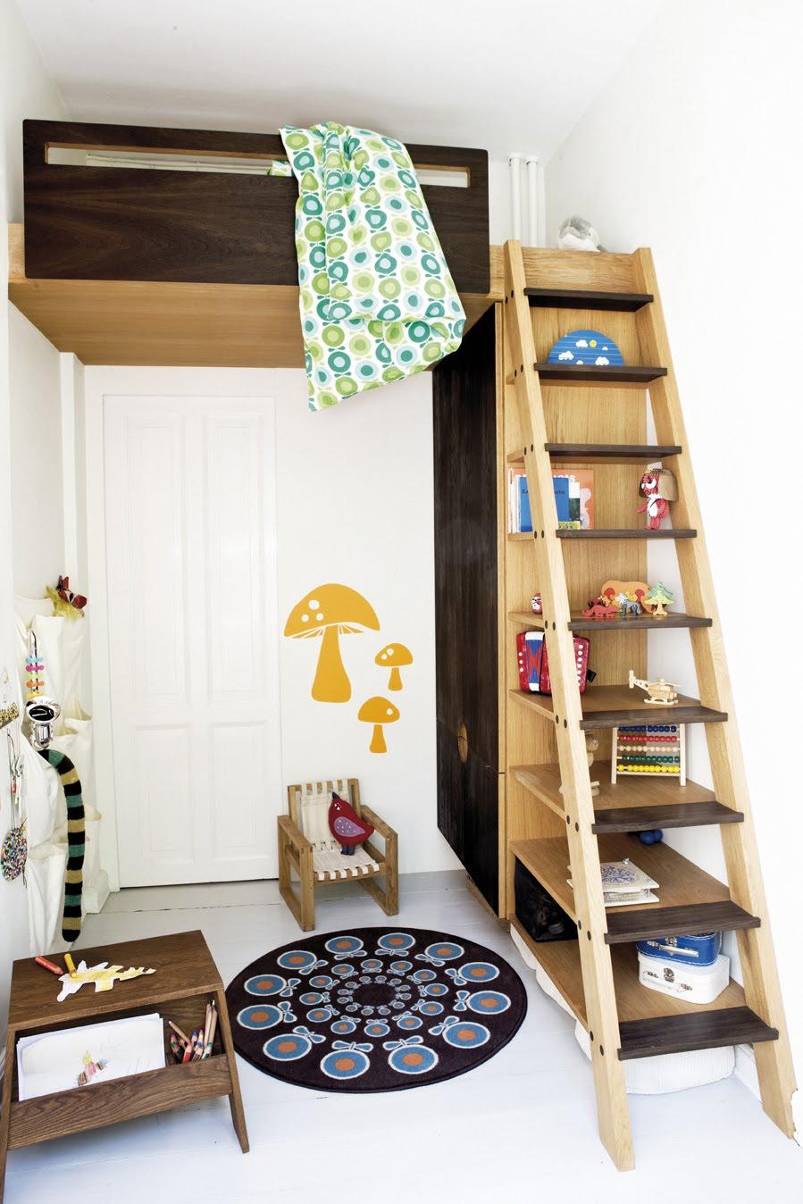 attic shelf ideas - Lite barnerom med lekker sengehems Foreldremanualen