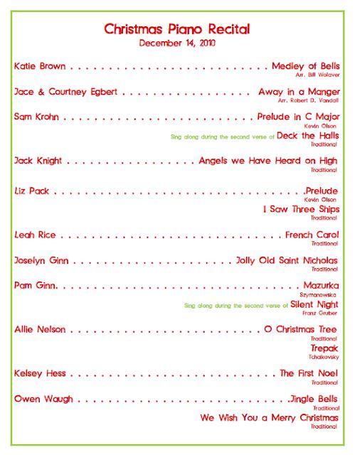 concert program templates