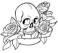 Japanestatto Desenhos De Caveiras Para Tattoo Com Faixas