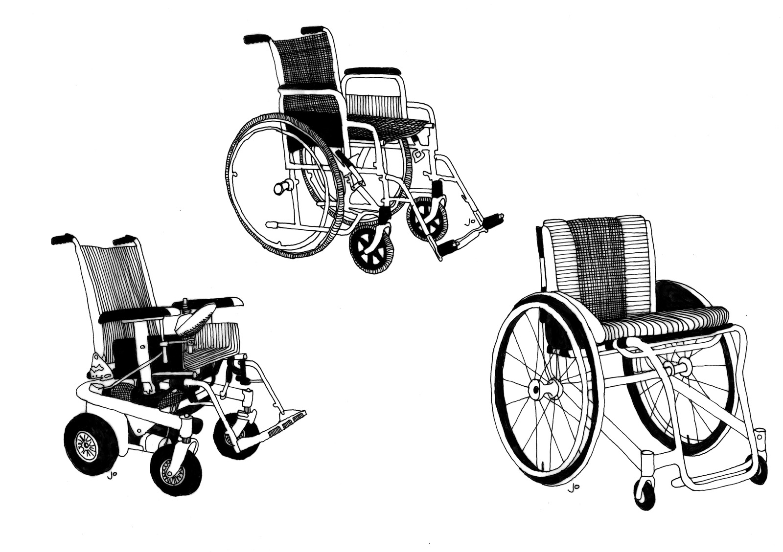 J's Space: Wheelchair Sketches