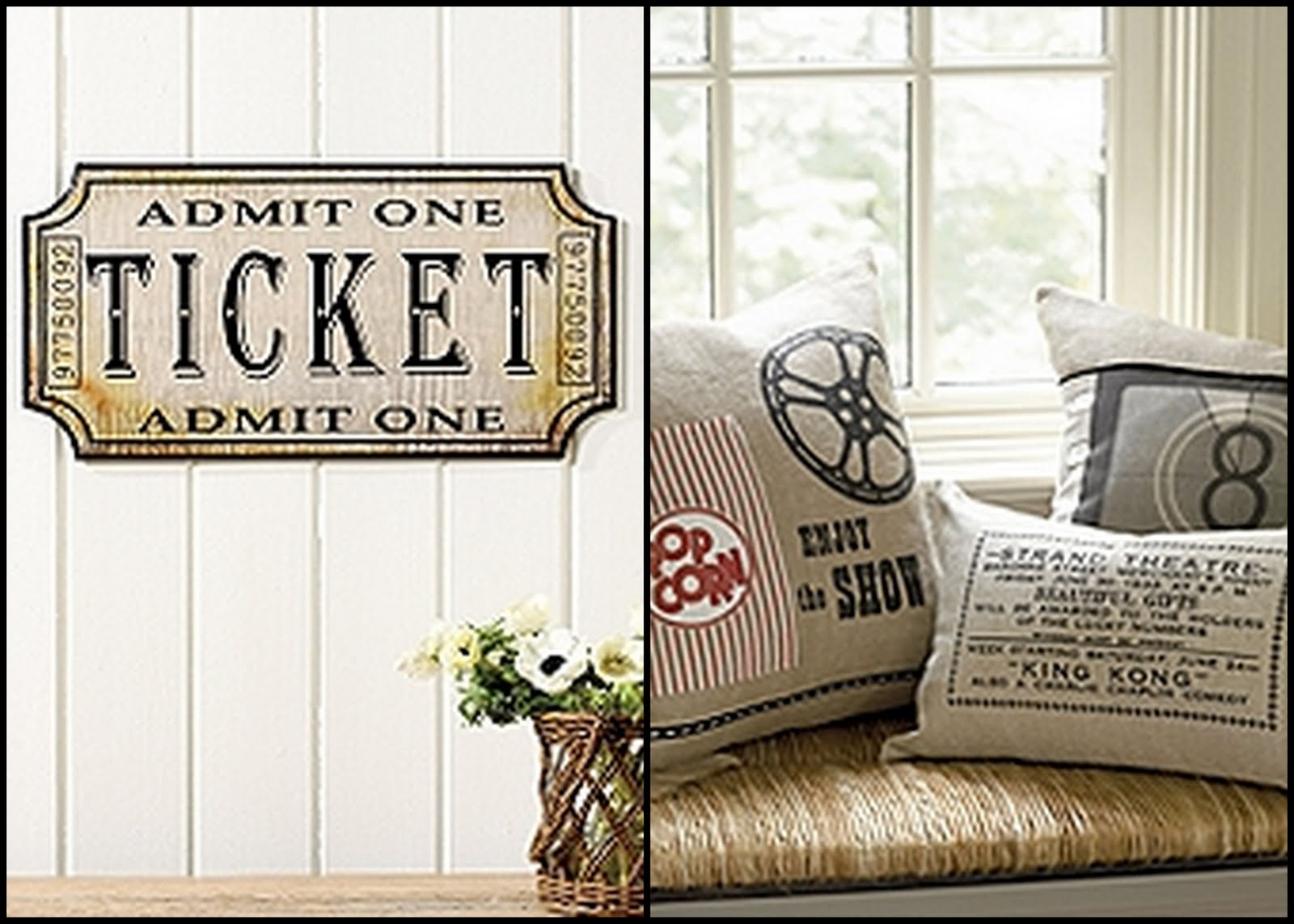 I Loved The Ticket Plaque And The Movie Inspired Pillows And Thought Iu0027d  Combine The Two Ideas. I Ended Up With This.