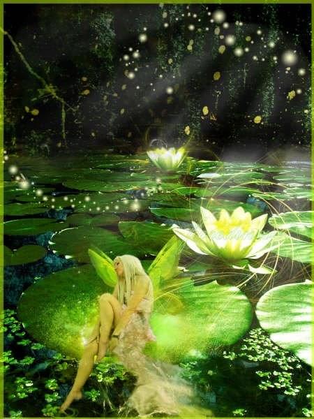 Seres fantasticos mitologia y algo mas hadas de agua for Accesorios para estanques de agua