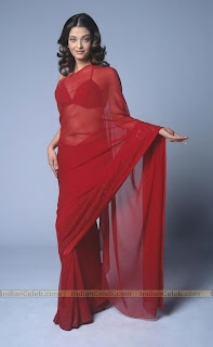 Aishwarya In Red Saree 9