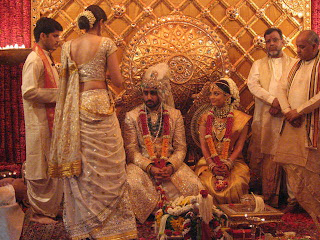 Aishwarya Rai And Abhishek Sitting In Mandap