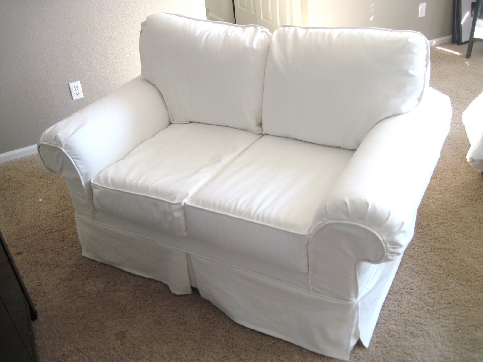 How To Make Sofa Covers Large Square Sectional A Couch Slipcover Easy Home Improvement
