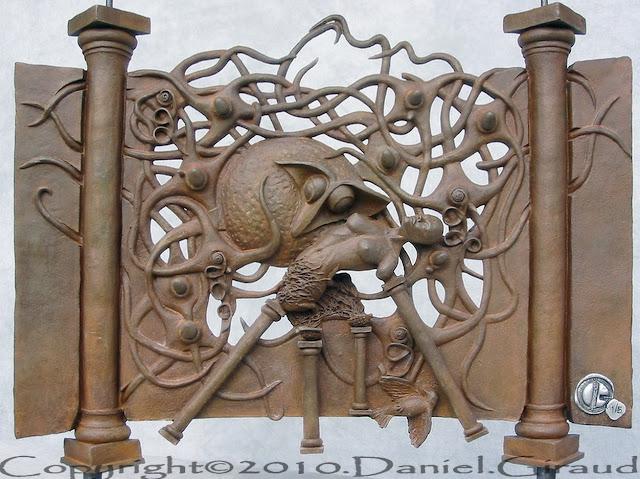sculpture résine hommage à andré masson