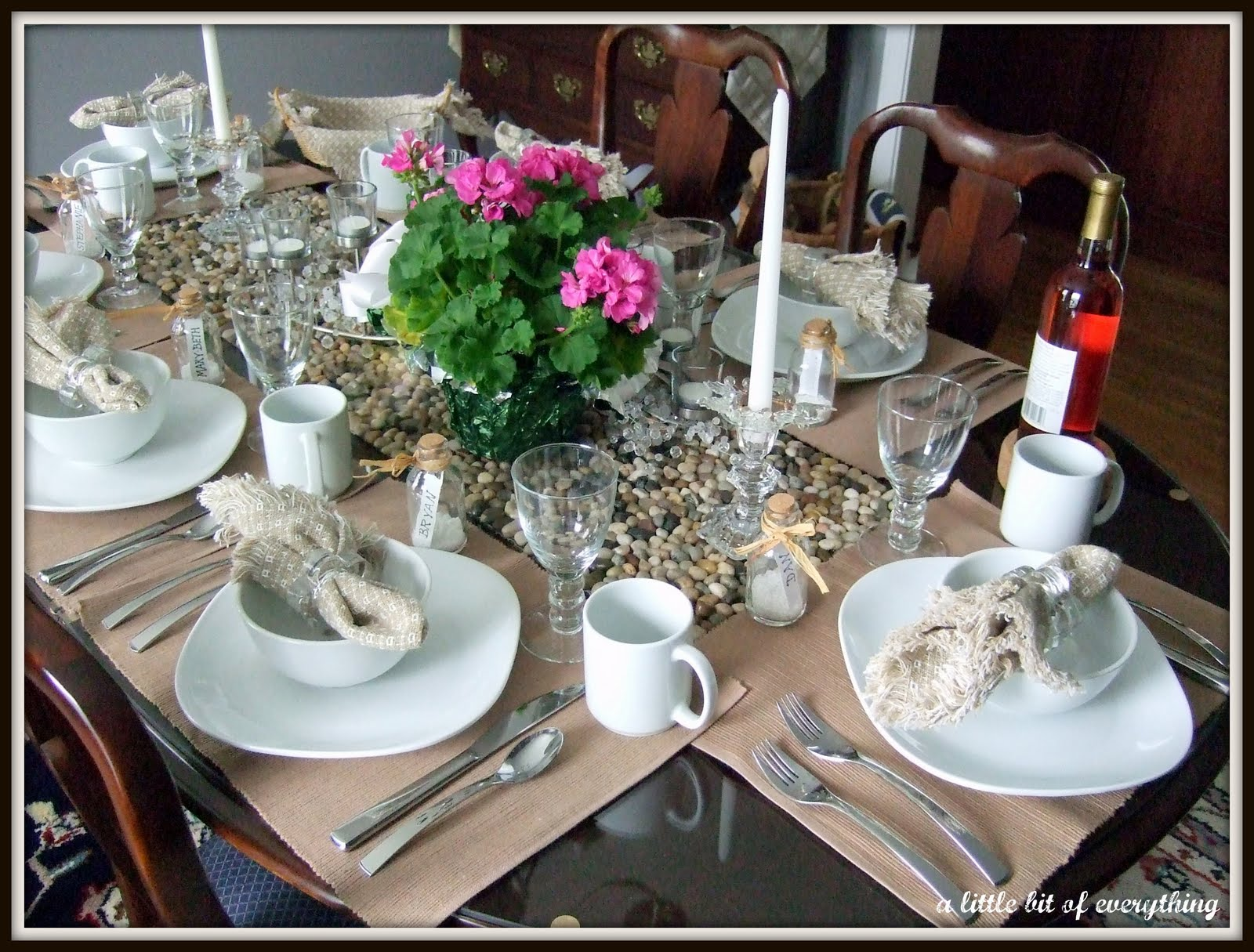 A Little Bit Of Everything Table Setting Birthday Dinner In Beige And