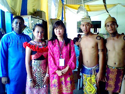 In traditional costumes