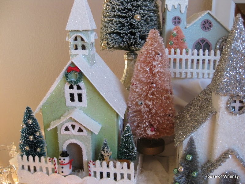How To Store Christmas Village Houses.House Of Whimsy Before And After Glitter Houses And A