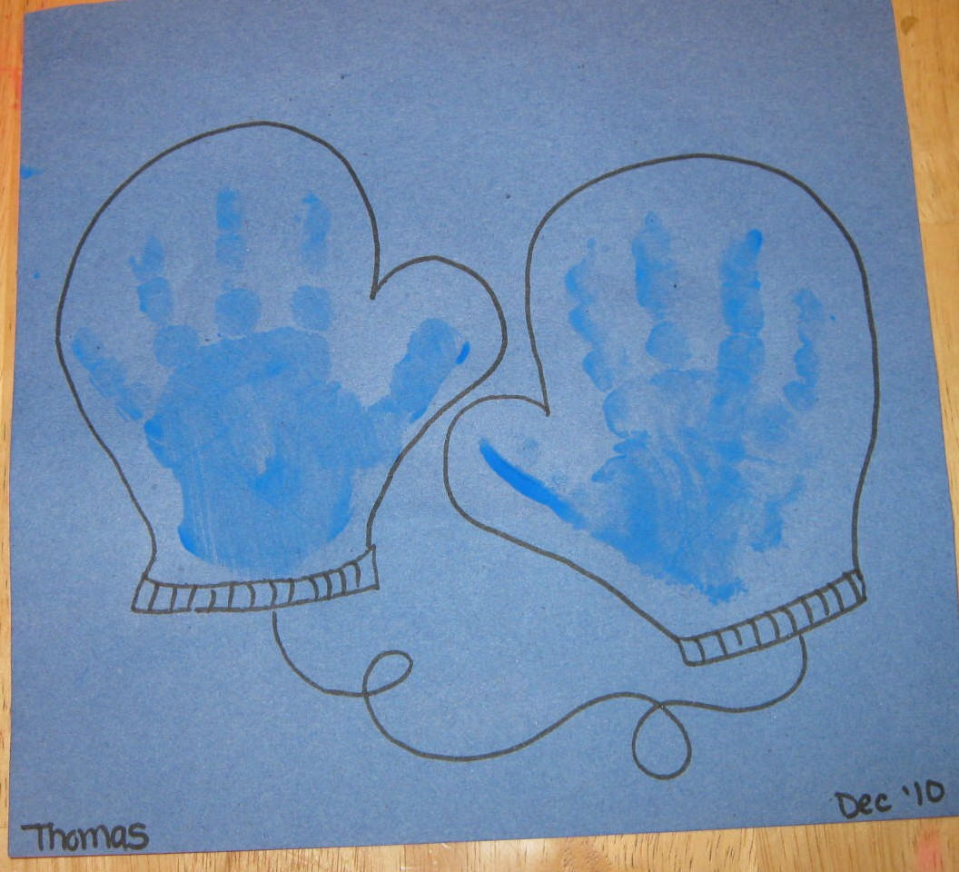 Play With Me Handprint Mittens