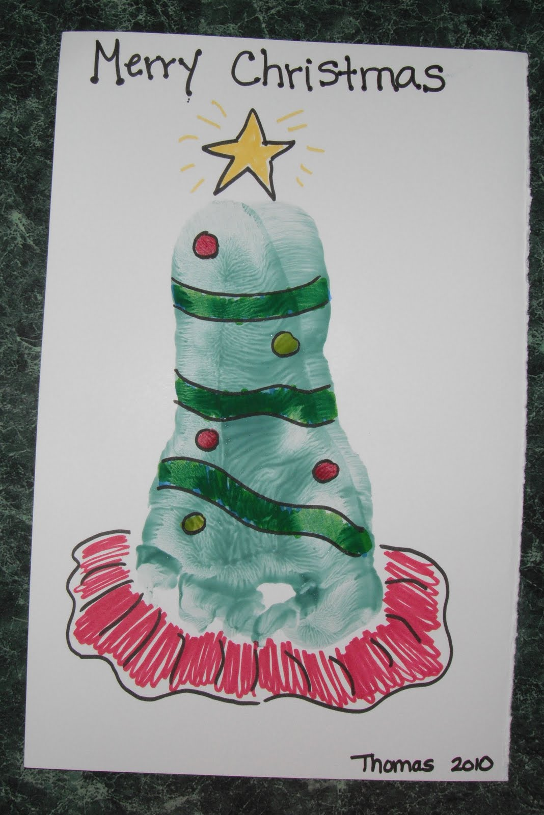 Play With Me: Footprint Christmas Tree