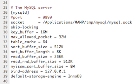 MAMP & MAMP PRO: How to set the MySQL Default Storage Engine