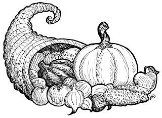 thanksgiving art coloring pages | Vanessa Prentice's Art Blog: Cornucopia
