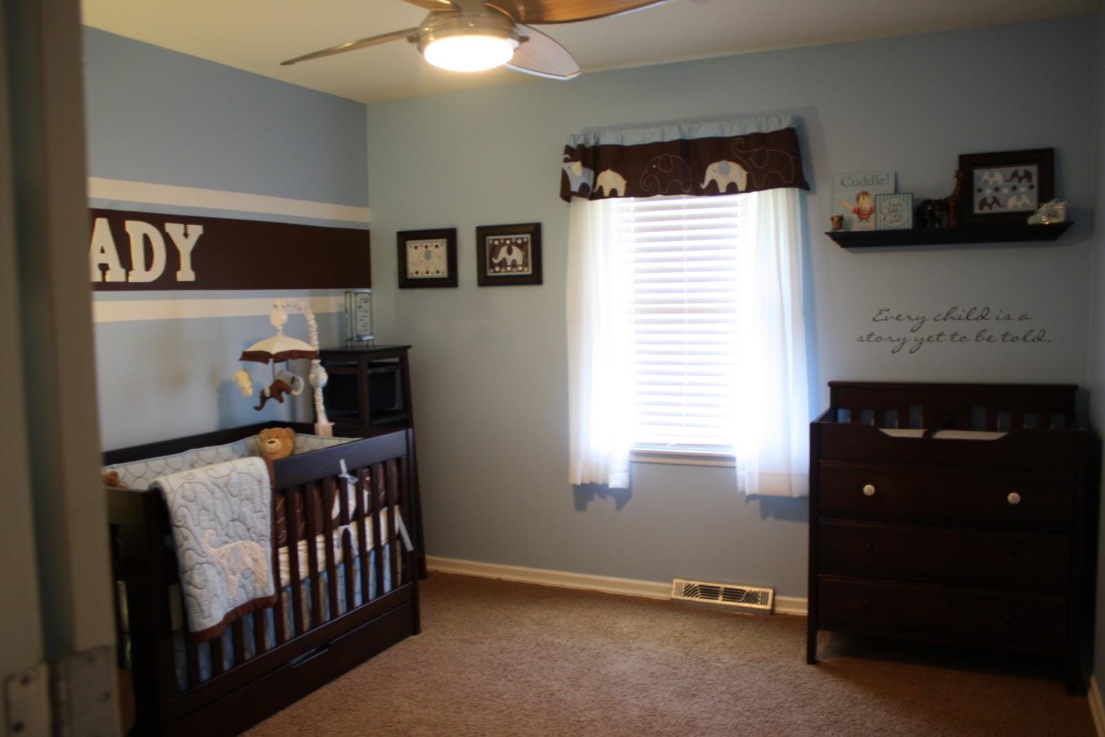 Sweet Brown Blue Boy Nursery