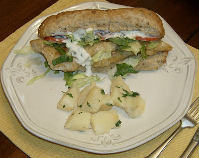 Healthier Fish Po'boys