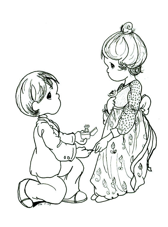 precious moments wedding coloring pages - photo#7