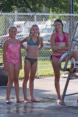 Neighborhood pool bikinis
