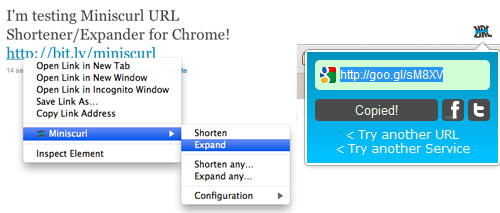 Expand Short URLs in Google Chrome | SumTips