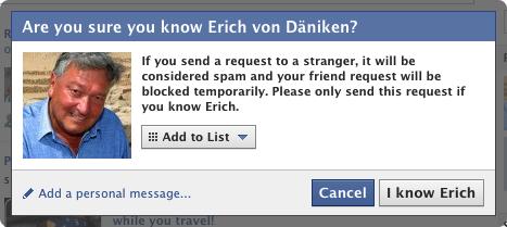 Facebook Friend Request Conformation