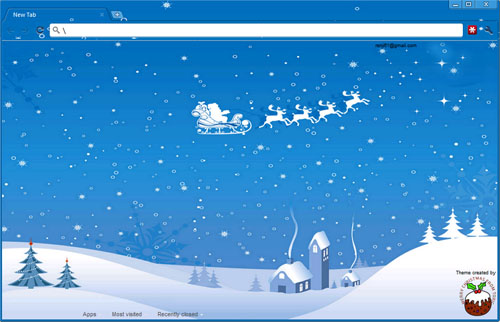 Santa's Village Google Chrome Theme