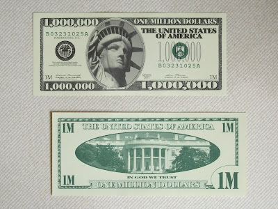 New Style Million 1 000 Dollar Novelty Bill Featuring Lady Liberty Same Size As A Real Us 6 6cm X 15