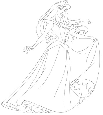 sleeping beauty coloring pages with prince phillip Coloring4free ... | 400x356