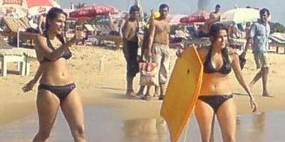 Amusing dhupiya in bikini are