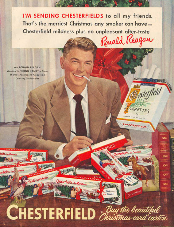 Chesterfield featuring Ronald Reagan - 1948